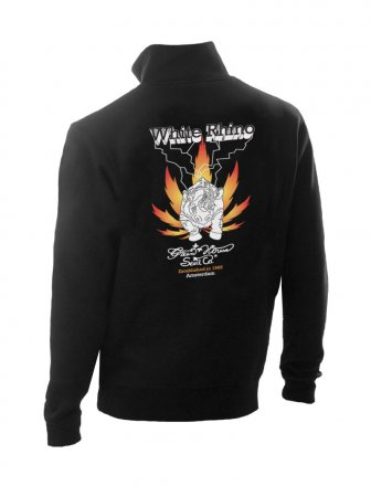 White Rhino  -  Black -  Sweater